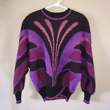 VINTAGE TRICOVILLE PULLOVER SWEATER SHOULDER PADS  90's STYLE SIZE 10
