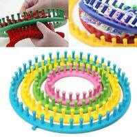 Round Knitting Loom Set Knit Circle Tool knitter Circular Sock Hat Peg New V1Y5