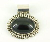 Vintage 925 Sterling Silver Black Onyx Pendant