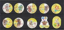 JAPAN 2015 AUTUMN GREETINGS TEDDY BEAR 82 YEN COMP. SET OF 10 STAMPS FINE USED