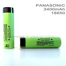 2x Genuine Panasonic 18650 3400mAh  NCR18650B Li-ion Vape Rechargeable Battery//