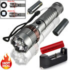 20000LM Tactical T6 LED 5 Modes Zoomable Flashlight Torch +Battery+Charger Set
