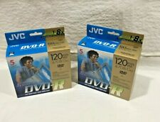 Lot of 10 JVC Blank DVD-R Recordable High Speed 120 min. 4.7 GB sealed