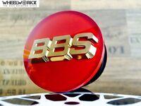 4x Original BBS Emblem Felgendeckel Nabenkappen rot/gold 3D 56mm 56.24.012