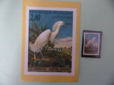 CARTE + TIMBRE – AIGRETTE NEIGEUSE – 1995 – (MB-154)
