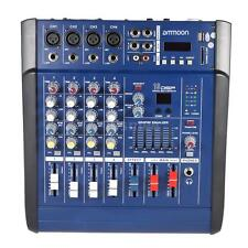 USB 4 Channel Digtal Mic Line Audio Mixing Mixer Console 48V Phantom Power I0P9