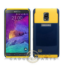 Samsung Galaxy Note 4 Hybrid 2 Tone Case Navy Blue/Yellow Cover Shell Protect