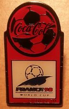 COCA-COLA PIN Button Spilla France 98 WORLD CUP FRANCIA NUOVO OVP