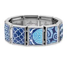 Jilzarah Navy Blue Square Stretch Bracelet Free Gift Box Fast Shipping Warranty