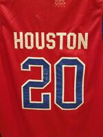 allan houston signed jersey autographed Detroit pistons stitched sewn size 54