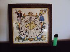 Ancien dessous de plats en céramique décor cadran solaire,marque à identifier
