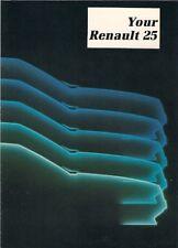Renault 25 1984-86 UK Market New Owner Preview Foldout Brochure