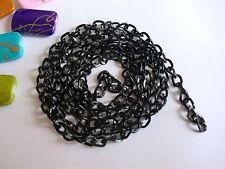 """30 X 26"""" 65 cm Negro Plateado bordillo Collar Cadenas fabricación de joyas/resultados"""