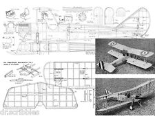 "Model Airplane Plans Scale 1/12 40"".75 diesel F/F or R/C ARMSTRONG WHITWORTH FK3"