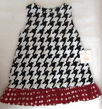 New Frumpy Rumps Collegiate Alabama Hounds Tooth Dress Baby Girls Size 6 Months