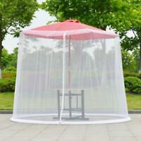 Umbrella Table Screen Cover Mosquito Bug Insect Net Patio Netting Outdoor Garden