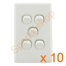 Light Switch (5 gang) Per box of 10 - $1.80 per switch. Aust. Approved