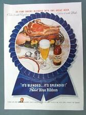 Original 1946 Pabst Beer Ad ORDER IT WITH CONFIDENCE .. PBR & PRIME RIB