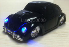 VW Beetle Car 2.4Ghz Wireless Mouse USB Optical Mice Bug for Laptop PC MAC Black