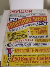 More details for vintage original poster pavilion theatre liverpool birthday show 1908-1958
