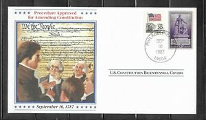 1987 US Procedure For Amending Constitution Bicentennial Cover, Philadelphia, PA