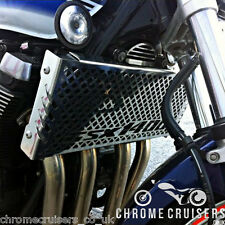 SUZUKI GSX 1400 (01-07) POLISHED STAINLESS STEEL RADIATOR COVER GUARD GRILL SET