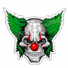 funny car bumper sticker scary clown skull evil eyes halloween decal 95 x 86 mm