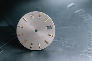 Rolex Date Silver stick marker dial for model 1500 - 1503 FCD12988