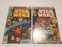 star wars #19 and #20 high grade Marvel comics boarded and bagged.