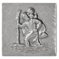 Sankt Christopherus St Christophorus Plakette Relief Metall Schild Glücksbringer