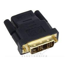 Adaptador  DVI-D (18+1) Macho a HDMI Hembra v227