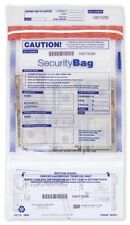 Dual Pocket  Clear Security Deposit Bag With Unique Serial Numbers 53857