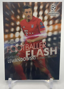 2019-20 Topps Chrome UEFA ROBERT LEWANDOWSKI Orange Refractor SP /25