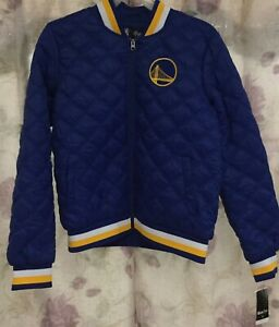 NBA GIII 4her Carl Banks Womens Large Golden State Warriors Jacket New Blue New