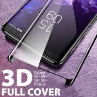 For Samsung Galaxy S9 S8+ Note 8 Tempered Glass 3D Full Cover Screen Protector