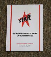 Star Machine 53-DS Transfermatic Heavy Duty Brake Lathe Accessories Catalog