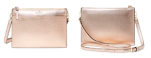 Kate Spade Rose Gold Cameron Street Clarise Handbag Purse NEW Tags Crossbody