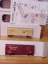 TWO KAR-LINE BOXCARS-SP + Atlantic & Western OBs VG+DEAL!