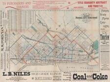 1893 Allen City Map or Plan of Peoria, Illinois