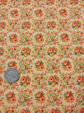 More Antique Treasures 100% Cotton fabric Quilting Craft Floral Apricot Orange