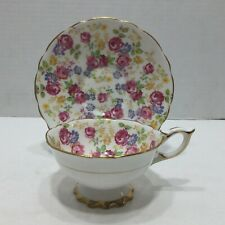 Royal Stafford Bone China Teacup and Saucer JUNE ROSES
