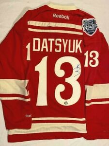 Pavel Datsyuk Autographed Jersey Reebok Winter Classic 2014 Certified Hockeyink
