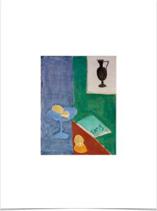 HENRI MATISSE STILL LIFE WITH LEMONS LIMITED EDITION ART PRINT 18X24 blue green