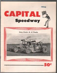 Capital Speedway Supermodified Auto Race Program 1960's-Al Pombo-Gary Koster-VG