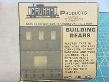 S Scale Crummy Products Building Rears 251 Unpainted Plaster Modeling Kit