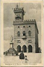 1929 Rep. San Marino - Palazzo governativo, Casa Cav A Reffi - FP B/N VG ANIM