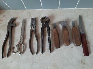 Vintage cobbler's Leatherworking  tools