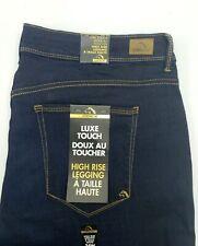 Jordache Women's Plus Luxe Touch High Rise Legging Jeans Size 24W Dark Wash NEW