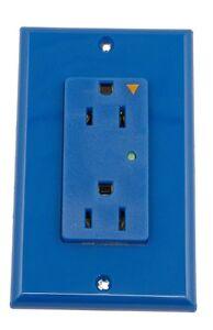 Leviton 5280-IGB, Blue15-Amp, 125-Volt, Decora Plus Duplex Receptacle  Qty 10