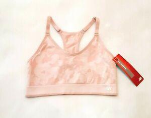 NEW BALANCE Size XL Sports Bra Blush Pink Camo T Strap